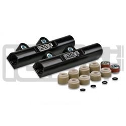 IAG V3 Top Feed Fuel Rails For 2002-14 Subaru WRX, 07-17 STI, 08-12 LGT, 06-13 FXT (Black Finish)