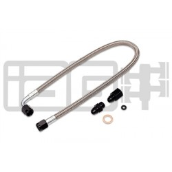 IAG Performance High Pressure Braided Power Steering Line (Rotated Turbo Routing) For 2002-07 WRX, 2004-07 STI